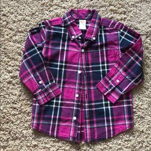 Gymboree long sleeve button down shirt